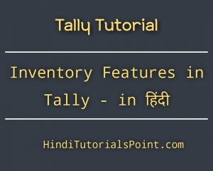 Inventory Features in Tally in Hindi
