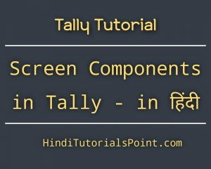 Tally screen components in Hindi